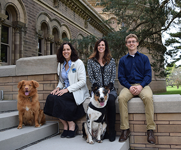 Winners of the Bolotin Award: The GLAS staff: Kate Meredith, Deb Kaelbli, Adam McCulloch, Ranger and Winter (the two dogs).