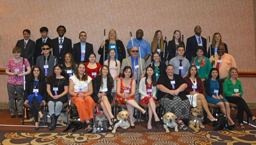 2019 scholarship class at the NFB National Convention in Las Vegas.