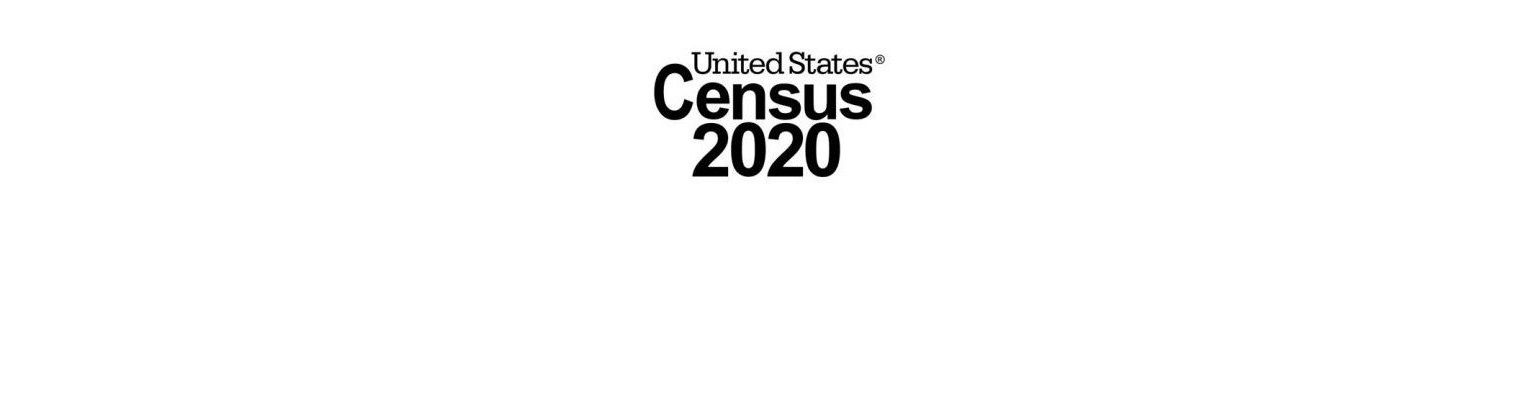 The words United States Census 2020.