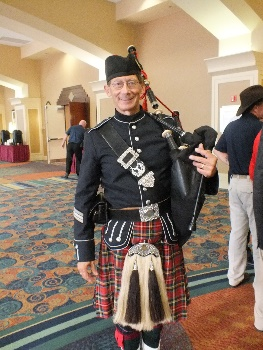 Bag Piper David Enzfelder Escorts Color Guard for Opening Ceremony