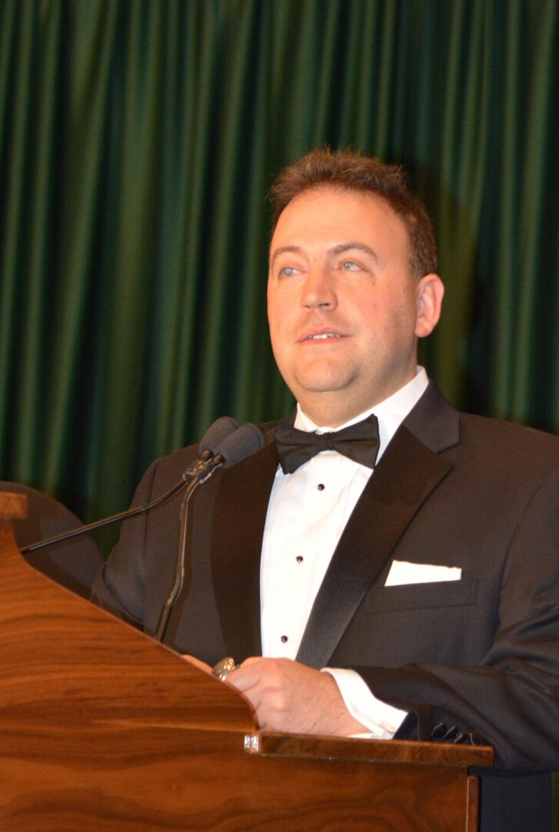 President Mark Riccobono (2014-present) delivering the banquet speech.