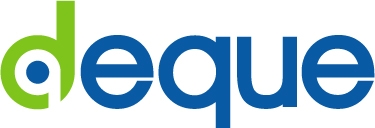 Deque logo and link to deque.com
