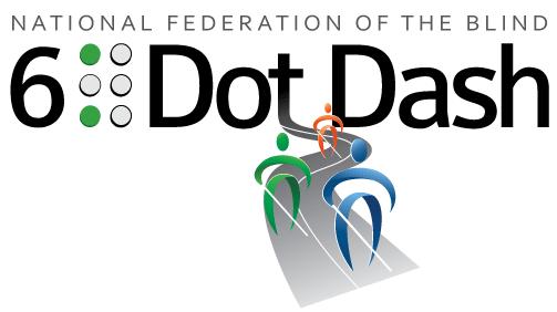 National Federation of the Blind 6 Dot Dash logo