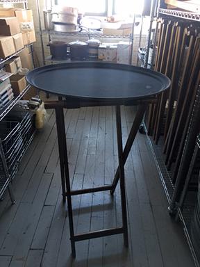 Wooden restaurant tray stand