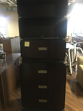 Rosewood and teak stereo cabinet