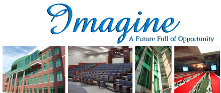 Imagine Logo with pictures of the Jernigan Institute