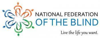 """National Federation of the Blind, """"Live the life you want"""" logo"""