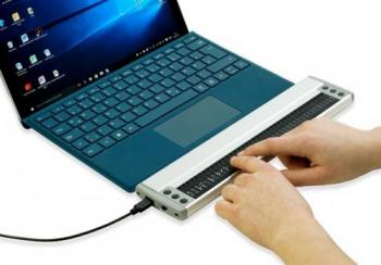 Vario 340 being used with a Windows laptop. Photo courtesy of BAUM USA.