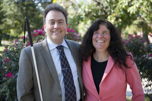 NFB President Mark A. Riccobono and First Lady Melissa Riccobono.