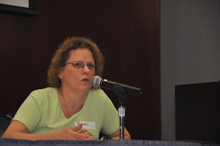 Susan Polansky speaking at the conference.