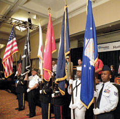 The color guard at the NFB National Convention