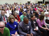 The crowd of NFB members was quite large at Washington Seminar.