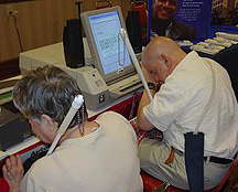 Blind voters using accessible voting machines