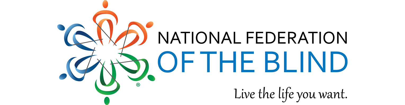 National Federation of the Blind logo, Live the Life You Want